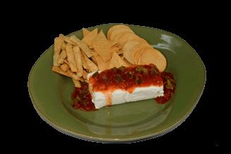 Dip con Salsa Amaranta y Nachos Monteco