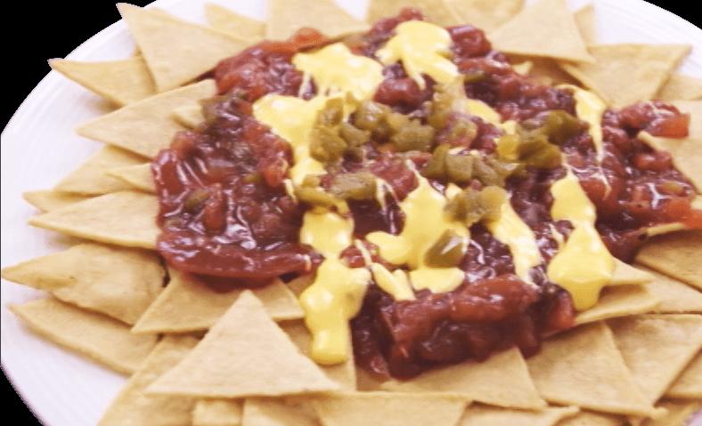 Nachos con Salsa Amaranta y Queso